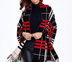 Striped Sweater Coat..