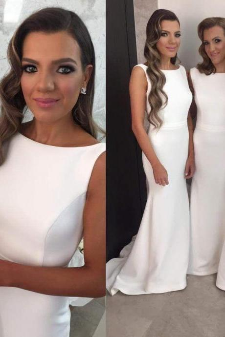 Sexy Bridesmaid Dress Mermaid Bridesmaid Dress Long White Bridesmaid Dress